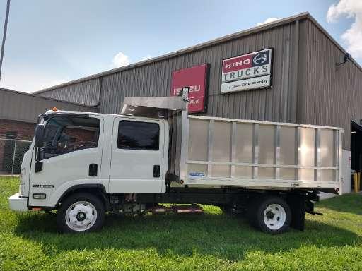 2018 Isuzu NPR HD Crew Cab Dejana Aluminum MAXscaper Dump Truck U2013 Feature  Friday